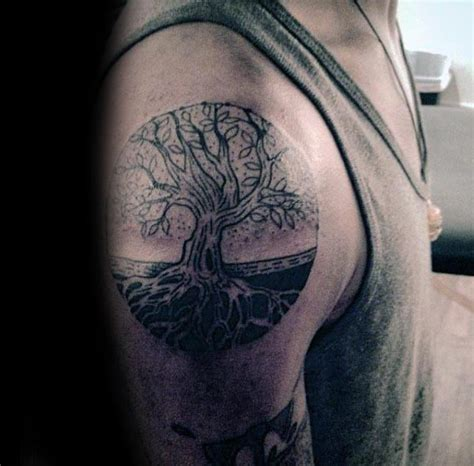 tree  life tattoo designs  men manly ink ideas