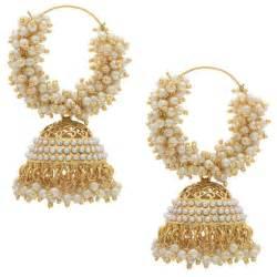 jhumki style earrings in gold royal bling gold metal jhumka earrings for women