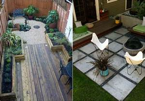 Design exterieur petit jardin terrasse chaises plantes for Amazing amenagement petit jardin avec terrasse 1 petit jardin idees damenagement deco et astuces pratiques