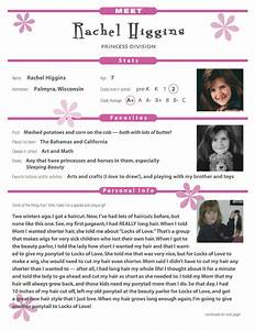 karen gomolka editorial services promotional materials With pageant resume templates