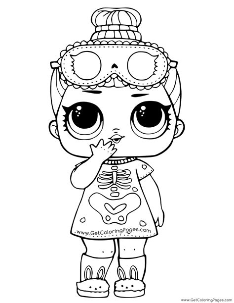 unicorn lol doll coloring page  girls  coloring pages