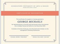 Customize 204+ Recognition Certificate templates online Canva