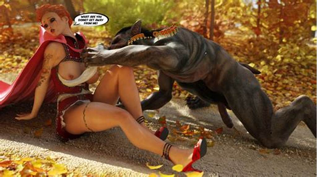 #Tattooed #Little #Red #Riding #Hood #Sucking #Wolf'S #Dick