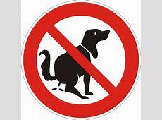 Verbotsschild Kein Hundeklo Elchschilder Onlineshop