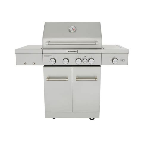Kitchenaid Gas Grill Home Depot by Kitchenaid 4 Burner Propane Gas Grill In Stainless Steel