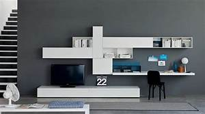 Schreibtisch Im Wohnzimmer : wohnwand mit schreibtisch bestseller shop f r m bel und einrichtungen ~ Markanthonyermac.com Haus und Dekorationen