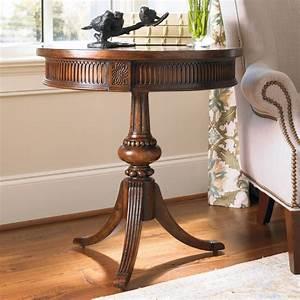 Hooker, Furniture, Pedestal, End, Table