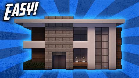 minecraft   build  small modern house tutorial  youtube