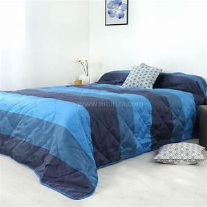Couvre Lit Bleu : couvre lit 250 x 260 cm bergame bleu couvre lit boutis eminza ~ Teatrodelosmanantiales.com Idées de Décoration