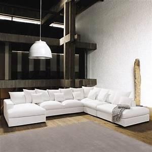 Canape Angle 6 7 Places : canap d 39 angle 7 places en coton ivoire loft maisons du monde ~ Maxctalentgroup.com Avis de Voitures
