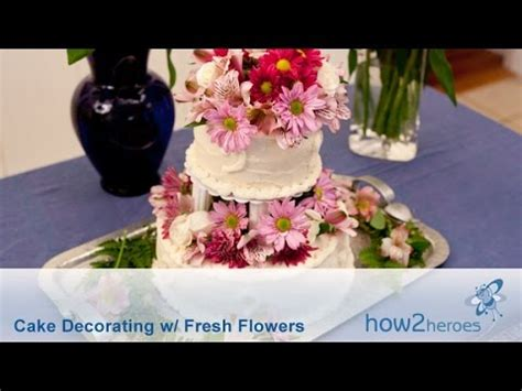 Cake Decorating With Real Flowers - cake decorating with fresh flowers