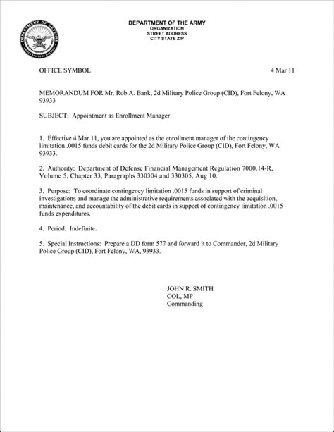 Justification Memo Template by Best Photos Of Army Justification Memo Exle Army