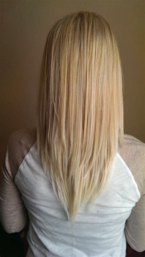 vcut blonde long layers pretty hair long hair cut