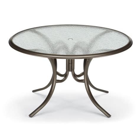round glass top outdoor table telescope casual 56 inch round glass top patio dining