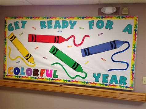 crayon bulletin board for back to school bulletin 722 | 8a1c04e58831e018471c02974fe5a0f5