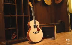 Blue Taylor Acoustic Guitar