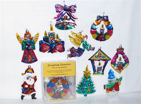 A Christmas Collection - Boxed Set of 10 Painted Tin ...