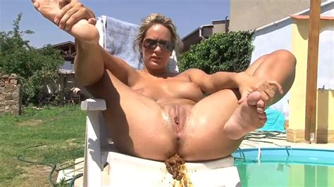 Hot Blonde MILF Trying To Poop Outdoor ThisVid Com