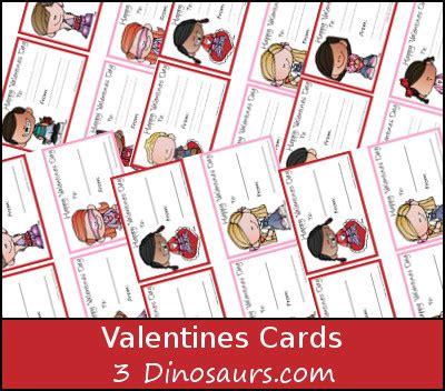 dinosaurs valentines cards printable