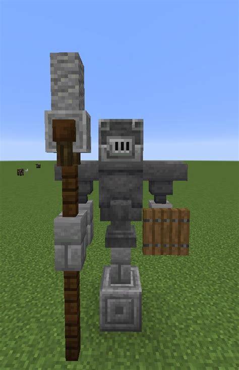 minecraft statue idea    blast furnaces  helmets minecraft statues minecraft