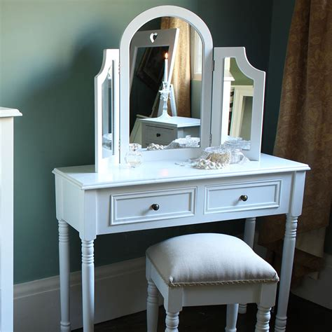 white desk with mirror white wooden dressing table mirror shabby french chic