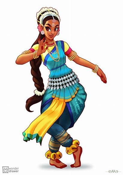 Indian Dance Cartoon Transparent Character Dancer Drawing