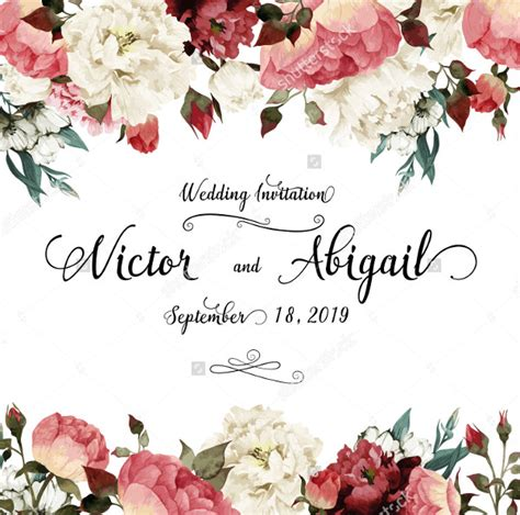 cheap rustic wedding floral invitation template songwol 714fa1403f96