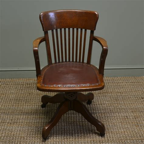 antique oak chair quality edwardian antique oak swivel office chair 1292