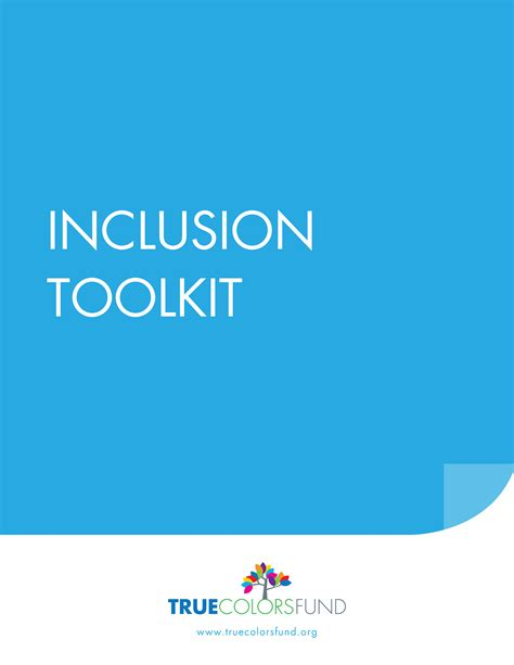 true colors fund inclusion toolkit true colors fund
