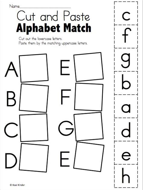 alphabet match a to e free worksheets handwriting