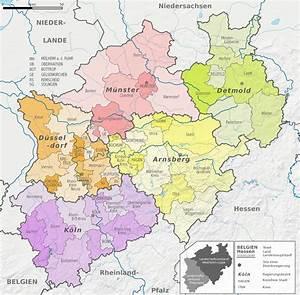 Nord Rhein Westfalen : file nordrhein westfalen administrative divisions de colored full featured larger labels ~ Buech-reservation.com Haus und Dekorationen