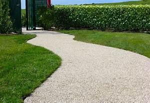 Resine Pour Gravier : sol en r sine et gravillons au jardin voici les avantages ~ Premium-room.com Idées de Décoration