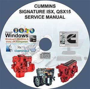 Cummins Engines Signature Isx  Qsx15 Service Repair Manual