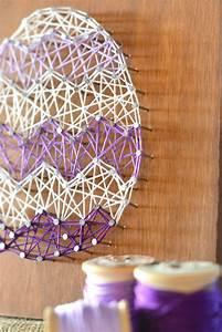 Diy, Easter, Egg, String, Art, Home, Decor, Craft