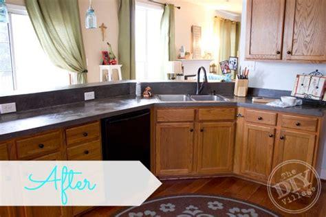 Kitchen Countertop Makeover  The Diy Village