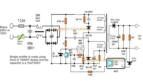 amp smps battery charger circuit homemade circuit projects