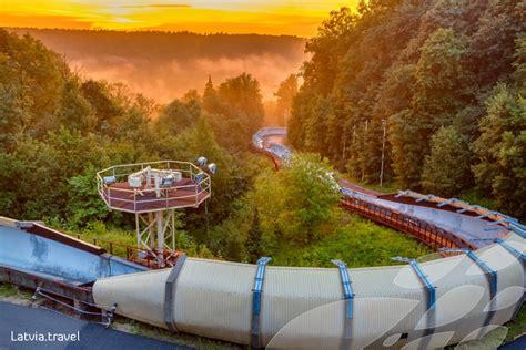 Bobsleja un kamaniņu trase Siguldā   Latvia Travel