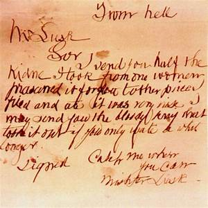 The Jack The Ripper Letters Prisoners Of Eternity  Letters From Hell Good Resumer Example