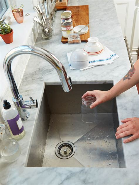 clean  kitchen sink kitchn