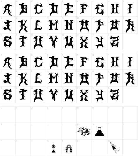 slayer dragon font