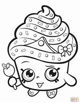Coloring Shopkin Cupcake Pages Queen Supercoloring Printable Drawing Paper Styles sketch template