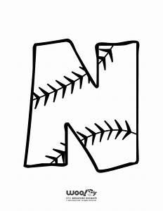 baseball alphabet letter n woo jr kids activities With baseball alphabet letters