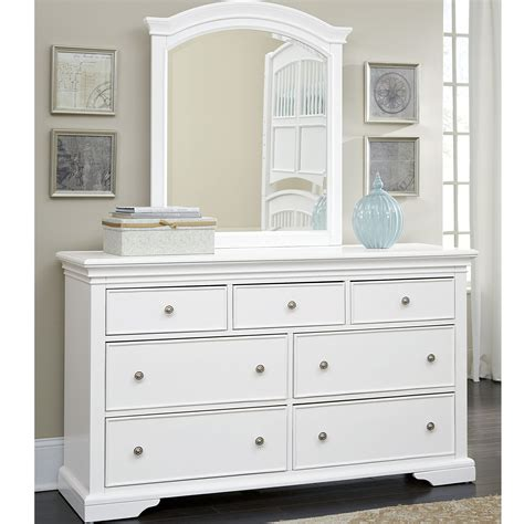 ne kids walnut street white wood  drawer dresser