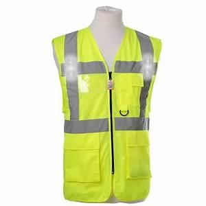 Hi Vis Vest With Led Lights Led Lights Hi Vis Safety Vest Gml Clothing
