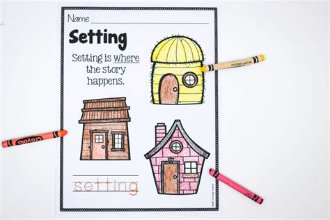 story elements  practical  fun  familiar characters