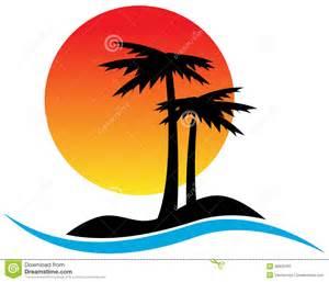 Tropical Palm Tree Logo Design