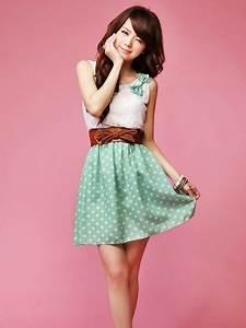 Cute Dot and Lace Dress   Cute Japanese Fashion   Awesome ...