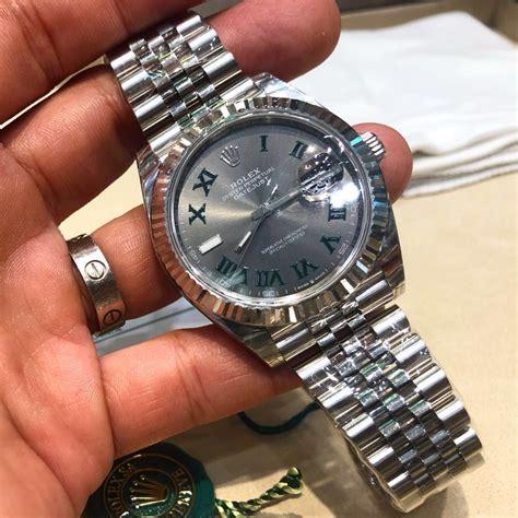 rolex datejust  slate dial green roman luxury watches