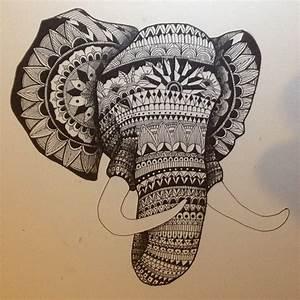 Alfred Basha illustration - #mandala #hamsa hand #elephant ...