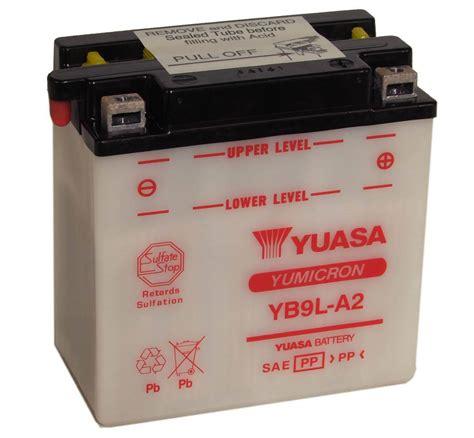 batterie yuasa moto yb9l a2